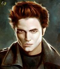 "Pop Art Robert Pattinson Luna Nueva 20x24 ""aceite único"