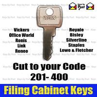 Filing Cabinet Spare Key Silverline, Roneo, Silverline, Vickers, Triumph, L&F