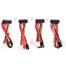 SATA Combo 15 Pin Power and 7 pin Data Cable 4 pin Molex to Serial ATA Lead TBTB
