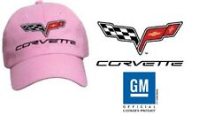 C6 Corvette Pink Low Profile Brushed Cotton Twill Hat, NEW Offically Licensed GM