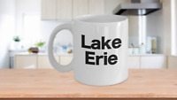 Lake Erie Map Mug - White Coffee Cup - Gift for Beach Great Lakes House Life Boa