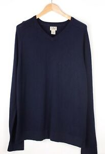 L.l. BEAN Men Cotton Cashmere Knit Sweater Jumper Size L ATZ1513