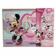 DISNEY MINNIE MOUSE BOW-TIQUE 3 WOOD PUZZLES PLAY SET