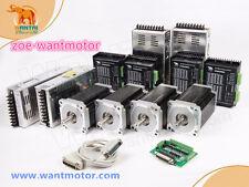 USA free!CNC Wantai 4Axis Nema34 dual shaft Motor 1600oz-in 3.5A+Driver 80V7.8A