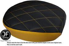 TWO TONE DIAMOND YELLOW CUSTOM FOR HARLEY SPORTSTER 883 48 REAR VINYL SEAT COVER
