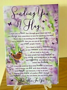 Sympathy Card Sending You A Hug - Condolence Mourning Bereavement Foil Quality