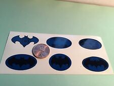 Die Cut, Custom Batman Decals For 12 Inch Figures. 1/6 Scale Set Of 6, Blue