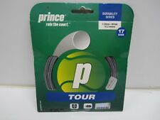 **NEW** LOT OF 5 PRINCE TOUR 17 (1.24) SILVER POLYESTER TENNIS STRING