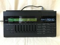 Roland PG-10 LINEAR SYNTHESIZER PROGRAMMER w/ power supply D-10 D-20 D-110 GR-50