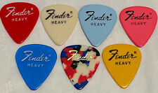 Vintage Fender colored guitar picks circa late 70's. Lot of 7 Picks- NOS unused