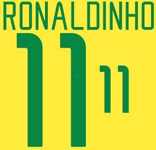 Brazil Ronaldinho Nameset 2002 Shirt Soccer Number Letter Heat Print Football H