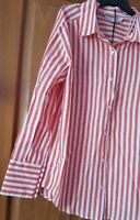 ZARA RED/WHITE MULTI-POSITION SHIRT BLOUSE TOP BNWT SIZE S