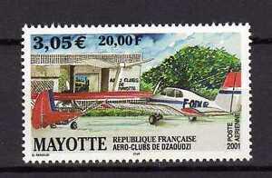 12536) Mayotte 2001 MNH Dzaoudzi Aero Club - Air Mail