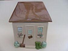 "Marks & Spencer Ceramic Storage Jar, Potting Shed, 6"" x 5"" x 8"""