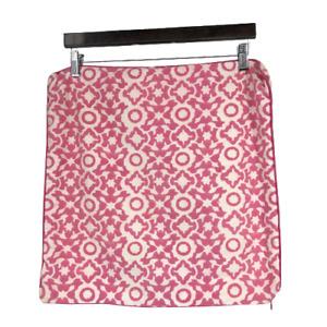 Roberta Roller Rabbit Home Boho Pillow Sham Case Cotton Geometric Pink White