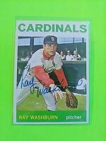 1964 TOPPS Signed Autograph #332 Ray Washburn Cardinals