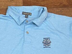 PETER MILLAR Summer Comfort WHISTLING STRAITS Men's Polo Golf Shirt Sz XXL