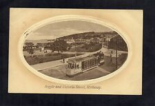 ARGYLE AND VICTORIA STREET, ROTHESAY, ISLE OF BUTE 1911 POSTCARD SHOWING TRAM