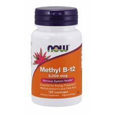 Now Foods Methyl B-12 w/ Folic Acid 5,000 mcg 120 Lozenges, FRESH, Made In USA