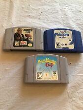 Nintendo 64 Video Game Lot Of 3 Madden Bass Hunter
