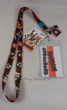 New Haikyu!! Karasuno Team Lanyard ID Pin Holder W/ #10 Jersey Charm Neckstrap