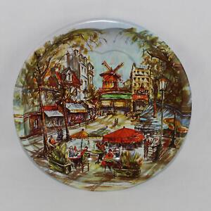 Vtg Daher Decorated Ware Tin Dish European City Scene Regd Des 951942 1971