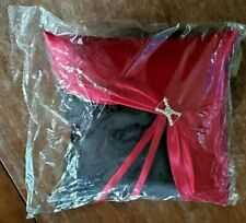 BLACK WITH RED RING BEARER PILLOW- NEW IN PLASTIC BAG