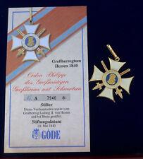 Göde Abzeichen Hessen --Orden Philipp des Grßmütigen--