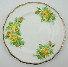 Royal Albert Tea Rose 8 1/8 Salad Plate Yellow Roses with Gold Scalloped Edge