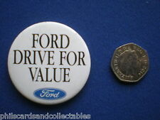 Ford Drive for Value   pin badge    1980s