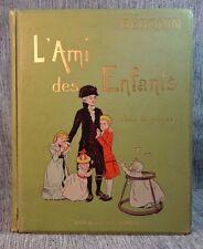 L'Ami des Enfants Berquin Illus H Gerbault Paris Henri Laurens Vtg French HB