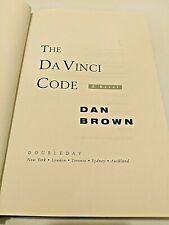 The Da Vinci Code Dan Brown 2003 hardback book
