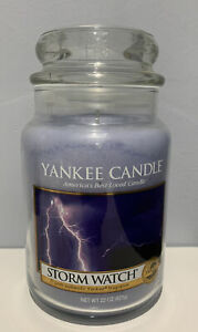 Yankee Candle Storm Watch 22 oz  Jar  NEW HTF RETIRED Classic LABEL