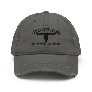 Yellowstone Dutton Ranch Embroidered Distressed Hat