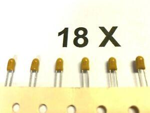 2,2uF, 16V, 10%, RM2,54, 2,2µF, 125°, Tantal, KEMET, T350A225K016AT 18 Stück