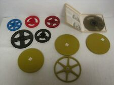 Lot of 8mm/Super 8 Movie Reels w/2 Metal Canisters & Kenco Splicer Canister