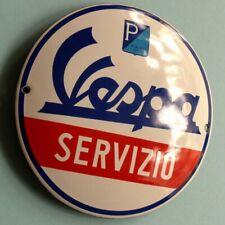 VESPA Servizio Tür Emailschild MAKELLOS Werkstatt Motor Roller PIAGGIO Genua TOP