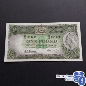 1961 VG++ R-34a 1£ POUND COOMBS WILSON EMERALD GREEN PREDECIMAL BANKNOTE