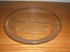 "VINTAGE DEPRESSION PHILBE SAPPHIRE BLUE FIRE KING 9"" GLASS PIE PLATE DISH"