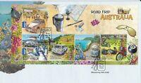 AFD1094 A) Australia 2012 Road Trip Australia FDC Mini Sheet. Price: $8.70