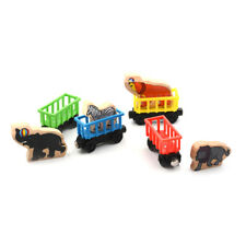 Baby Animals Wooden Trains Model Toy Magnetic Train Kids Education Toys Gifts @E