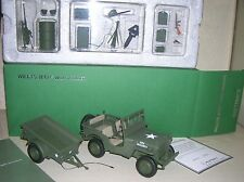 AutoArt 74016 - US Army Willys Jeep With Trailer 1:18 - special edition in Box