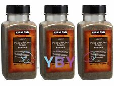 3 Jars Kirkland Signature Fine Ground Black Pepper 12.3 oz Each Jar