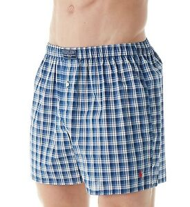 NWT Polo Ralph Lauren Men's Plaid Woven Boxer Underwear MSRP $28.00