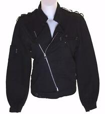 Bnwt Women's Oakley Flashback Military Biker Bomber Jacket Coat Xlarge Black