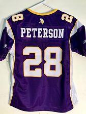 Reebok Women's Premier NFL Jersey Vikings Adrian Peterson Purple sz L