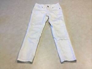 Justice Premium Jeans Girls Size 7R White