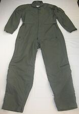 US Military Coveralls Green Flyers Flight Suit Summer Fire Resistant 42 Regular