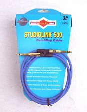 Monster Studiolink 500  TT PatchBay Cable, Blue 3ft,  - New, Free Shipping