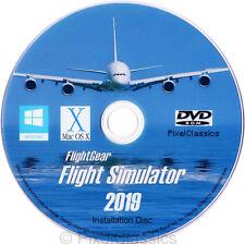 FlightGear Flight Simulator 2019 X Sim 500 Aircraft For Windows 10 8 7 Vista PC